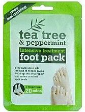 Парфюмерия и Козметика Маска-чорапи за краката - Xpel Marketing Ltd Tea Tree & Peppermint Deep Moisturising Foot Pack