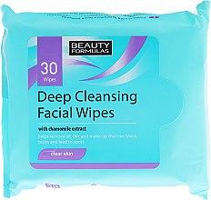 Парфюми, Парфюмерия, козметика Мокри почистващи кърпички за лице - Beauty Formulas Deep Cleansing Facial Wipes
