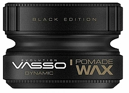 Парфюмерия и Козметика Помада за коса - Vasso Professional Hair Styling Pomade Wax Black Edition Dynamic