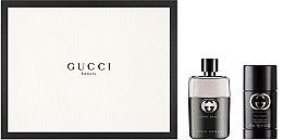Парфюми, Парфюмерия, козметика Gucci Guilty Pour Homme - Комплект (тоал. вода/50ml + део/75ml)