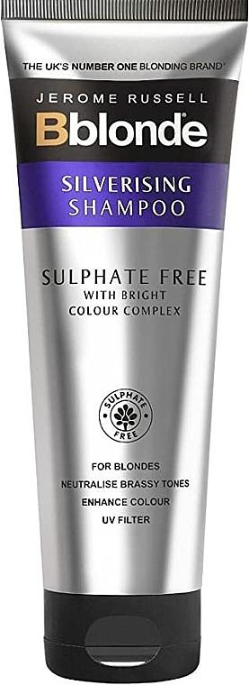 Безсулфатен сребрист шампоан за коса - Jerome Russell Bblonde Silverising Sulphate Free Brightening Shampoo
