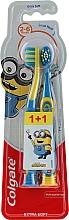 "Парфюмерия и Козметика Детска четка за зъби ""Smiles"", 2-6 г. , жълто-синя, екстра мека - Colgate Smiles Kids Extra Soft"