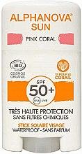 Парфюмерия и Козметика Слънцезащитен стик - Alphanova Sun Pink Coral SPF50+