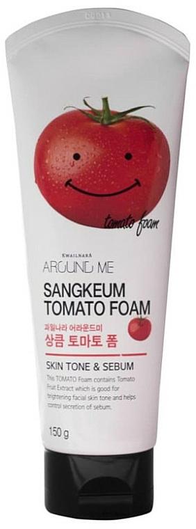 Измиваща пяна за лице с екстракт от домат - Welcos Around Me Sangkeum Tomato Foam