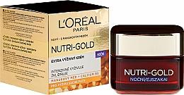 Нощен подхранващ крем за лице - L'Oreal Paris Nutri Gold Ultimate Nutrition Rich Night Cream — снимка N1