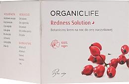Парфюмерия и Козметика Нощен крем за лице при капилярна кожа - Organic Life Dermocosmetics Redness Solution Night Cream