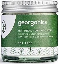 Парфюми, Парфюмерия, козметика Натурален прах за зъби - Georganics Tea Tree Natural Toothpowder