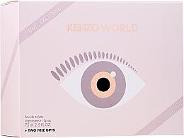 Парфюмерия и Козметика Kenzo World Eau de Toilette - Комплект (туал. вода/75ml + лосион/75ml + козм. чанта)