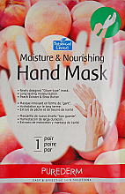 Парфюмерия и Козметика Овлажняваща и подхранваща маска-ръкавици, основана на праскова - Purederm Moisture & Nourishing Hand Mask