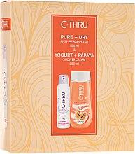 Парфюмерия и Козметика Комплект - C-Thru Pure & Dry (део/150ml + душ гел/250ml)