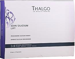 Парфюмерия и Козметика Комплект грижа за лице - Thalgo Marine Silicium Programme (серум/6х3ml + филър/6x2ml + маска/6x100g + маска/6бр. + серум/6x10ml)