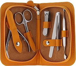"""Парфюмерия и Козметика Маникюрен комплект """"Multi"""", MS-10, 6 инструмента, оранжев - Staleks Manicure Set"""
