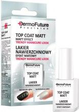 Парфюми, Парфюмерия, козметика Матов топ лак за нокти - Dermofuture Precision Top Coat Matt