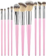 Парфюмерия и Козметика Професионален комплект четки за грим, розов, 10 бр. - Tools For Beauty