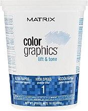 Парфюми, Парфюмерия, козметика Пудра за незабавно изсветляване на косата - Matrix Colorgraphics Lift & Tone Powder Lifter