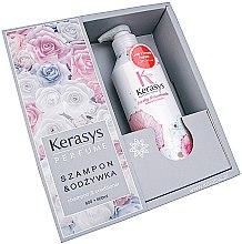 Парфюми, Парфюмерия, козметика Комплект за коса - KeraSys Lovely & Romantic (шампоан/600ml + балсам/600ml)