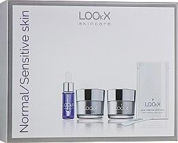 """Парфюми, Парфюмерия, козметика Комплект за лице """"Възстановяващ баланса на кожата"""" - LOOkX Try Me Set Normal Sensetive Skin (cl/balm/15ml + cr/15 ml + oil/5 ml)"""