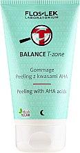 Парфюмерия и Козметика Пилинг за лице с кислород - Floslek Balance T-Zone Gommage Peeling With AHA Acids