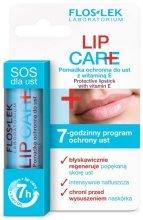 Парфюми, Парфюмерия, козметика Защитно червило с витамин Е 1% - Floslek Lip Care Protective Lipstick With Vitamin E 1%