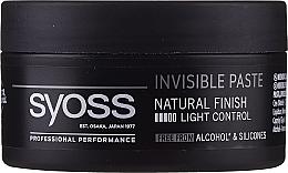 Парфюмерия и Козметика Моделираща паста за коса - Syoss Invisible Paste Light Control