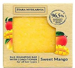 Парфюмерия и Козметика Твърд шампоан-балсам за коса със сладко манго - Stara Mydlarnia Sweet Mango 2in1 Shampoo Bar