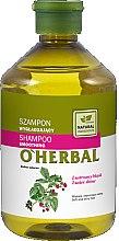 Парфюмерия и Козметика Изглаждащ шампоан за коса с екстракт от малина - O'Herbal Smoothing Shampoo