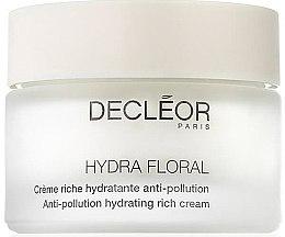 Парфюми, Парфюмерия, козметика Хидратиращ крем за лице срещу замърсявания - Decleor Hydra Floral Anti-Pollution Hydrating Rich Cream