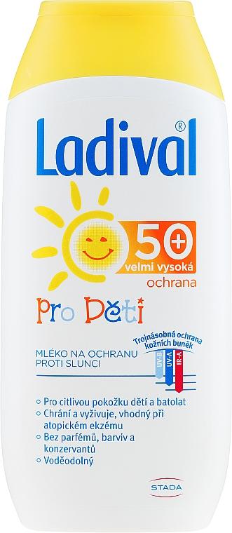 Детско слънцезащитно мляко - Ladival SPF50 — снимка N1