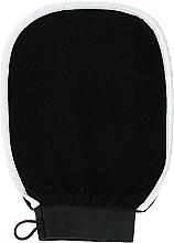 Парфюмерия и Козметика Масажна ръкавица за баня, черна - Efas Luxury