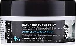 Парфюмерия и Козметика Маска за коса и пилинг за скалп 2в1 с черен въглен и бяла глина - Bio Happy Carbon Black & White Clay Scrub Mask