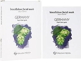 """Парфюмерия и Козметика Памучна маска за лице """"Германия"""" - Calluna Medica Germany Sebum Control Biocellulose Facial Mask"""