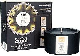 Парфюми, Парфюмерия, козметика Ароматна свещ - House of Glam Black Opium Candle