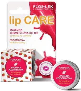 """Вазелин за устни """"Ягода"""" - Floslek Lip Care Cosmetic Lip Vaseline Wild Strawberry"""