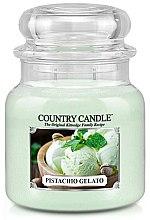Парфюми, Парфюмерия, козметика Ароматна свещ в бурканче - Country Candle Pistachio Gelato