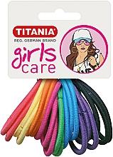 Парфюмерия и Козметика Ластици за коса, 20 бр., цветни - Titania Girls Care