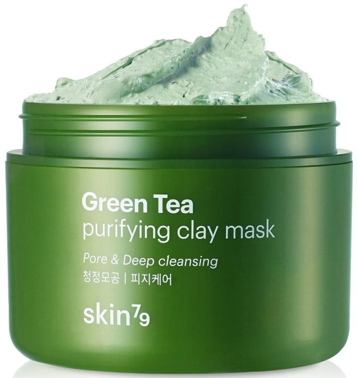 Маска за лице с глина и зелен чай - Skin79 Green Tea Purifying Clay Mask — снимка N1