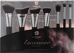 Парфюмерия и Козметика Комплект четки за грим, 7бр. - LP Makeup Set Of Seven Professional Brushes L'accessoire With Leather Bag