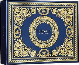 Парфюмерия и Козметика Versace Pour Homme - Комплект за мъже (тоал.вода/50ml + душ гел/50ml + афтършейв-балсам/50ml)