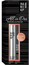 Парфюмерия и Козметика Комплект - Make up Factory All in One Mascara & Liner Set (спирала/9ml + молив за очи/0.31g)