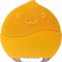 Парфюмерия и Козметика Почистваща четка за лице BR-030, жълта - Lewer
