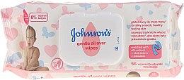 Парфюмерия и Козметика Хипоалергенни мокри кърпички, 56 бр - Johnson's® Baby