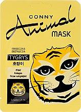 """Парфюми, Парфюмерия, козметика Подхранваща маска за лице """"Тигър"""" - Conny Animal Mask Tygrys"""