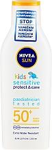 Парфюмерия и Козметика Слънцезащитен лосион за деца - Nivea Sun Kids Pure & Sensitive Sun Lotion SPF50+