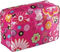 "Парфюми, Парфюмерия, козметика Козметична чантичка ""Flower"", розова - Top Choice"