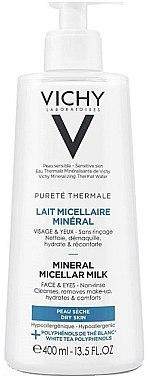 Мицеларно почистващо мляко за суха кожа - Vichy Purete Thermale Mineral Micellar Milk For Dry Skin — снимка N1