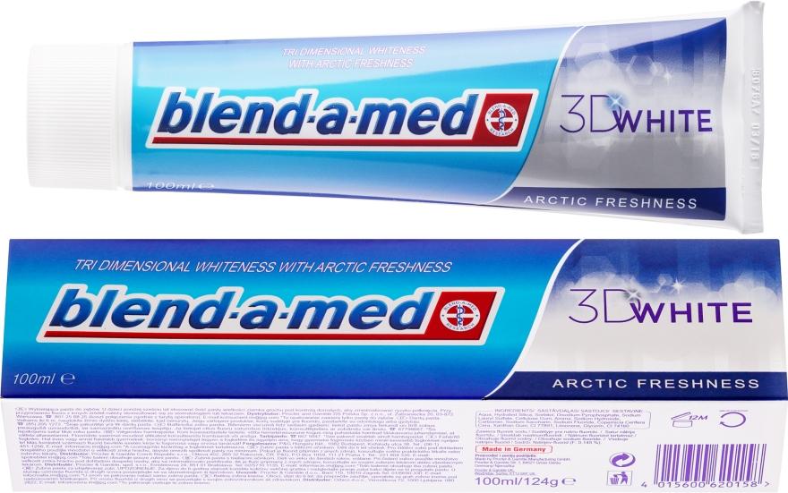 "Паста за зъби ""Арктическа свежест"" - Blend-a-med 3D White Arctic Freshness — снимка N1"