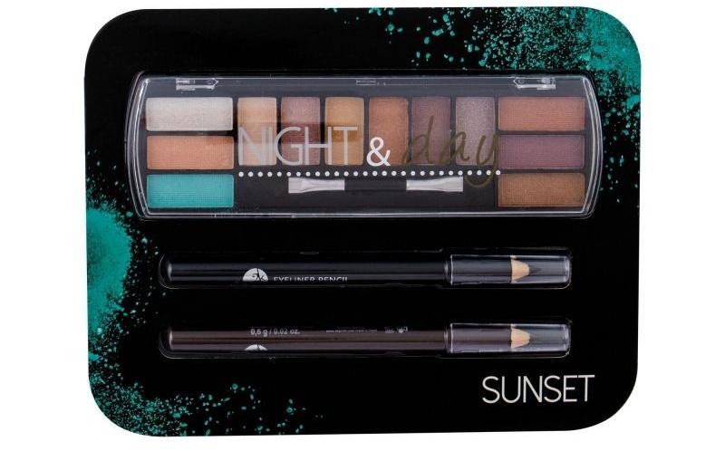Комплект за грим - Cosmetic 2K Night & Day (сенки/8,16g + моливи за очи/2x0,6g) — снимка N1