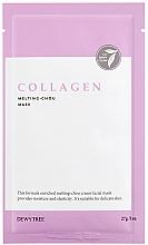 Парфюмерия и Козметика Маска за лице с колаген и хиалуронова киселина - Dewytree Collagen Melting Chou Mask