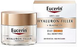 Парфюмерия и Козметика Антистареещ дневен крем за лице за всеки тип кожа - Eucerin Anti-Age Elasticity+Filler Day Cream SPF 30
