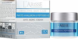 Парфюмерия и Козметика Крем против бръчки с хиалуронова киселина и пептиди 45+ - Ava Laboratorium L'Arisse 5D Anti-Wrinkle Cream Phytohyaluron + Peptides